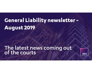 General Liability newsletter August 2019