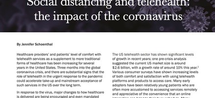 Social distancing and telehealth: the impact of the coronavirus