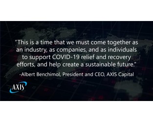 AXIS Commits $1 Million Donation to Support COVID-19 Relief Efforts
