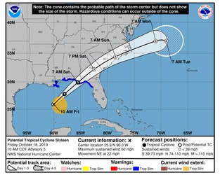 Tropical storm Nestor warnings remain for Florida Panhandle & Gulf coast