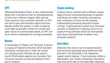 Cyber threat landscape - Jargon buster