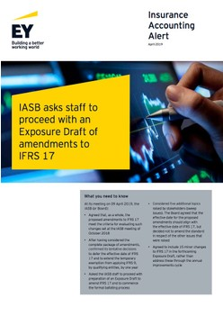 IASB asks staff to proceed with an Exposure Draft of amendments to IFRS 17