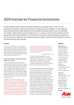 2019 Outlook for Financial Institutions