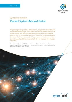 Case Study: Payment System Malware Infection