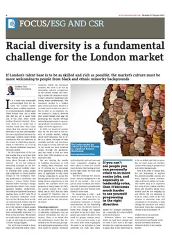 Godwin Sosi Pens Insurance Day Article on the Importance of Racial Diversity in the London Market (pg. 6)