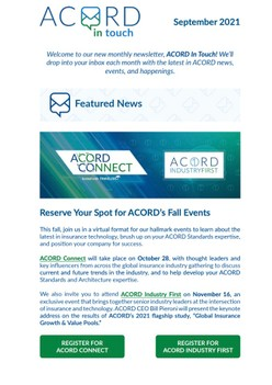 ACORD In Touch (September 2021)