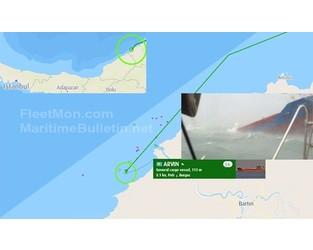 Ukrainian cargo ship sank or sinking at Bartin anchorage, Black sea. - FleetMon