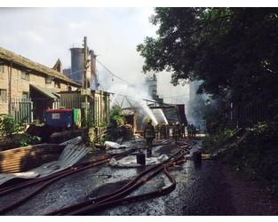 Explosion at Wood Flour Mills