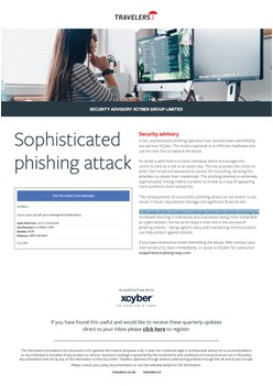 Sophisticated phishing attack