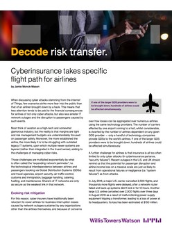 Cyberinsurance takes specific flight path for airlines