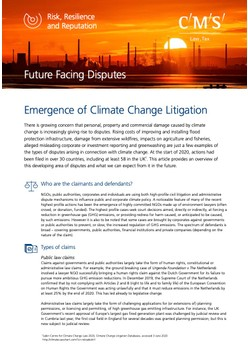 Emergence of Climate Change Litigation