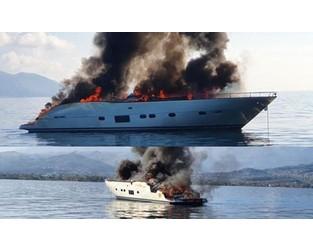 Million plus euro worth luxury yacht burned out, sank in Gulf of Corinth - FleetMon