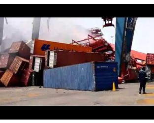 Video: Major Damage After Containership Crashes Into Crane at Egypt's Port - gCaptain
