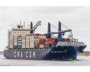 Newbuild CMA CGM container ship contacted berth, explosion mentioned - FleetMon
