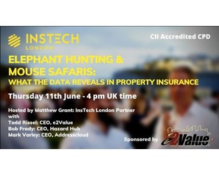 Webcast: Elephant Hunting & Mouse Safaris: What the Data Reveals in Property Insurance - Bright Talk