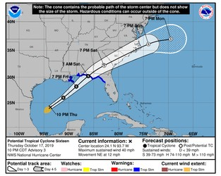 Tropical storm Nestor warnings raised for Florida Panhandle & Gulf coast