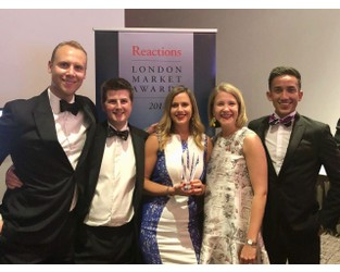 Hiscox Alternative Risk wins Reactions' Insurance Team of the Year award