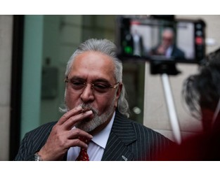 Indian Tycoon Mallya Faces Bankruptcy Over $1.5 Billion in Debt - Bloomberg