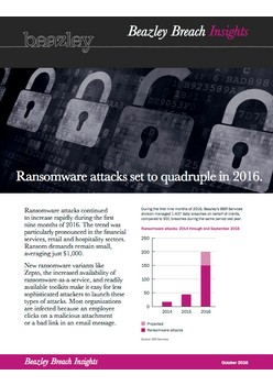 Ransomware attacks set to quadruple in 2016