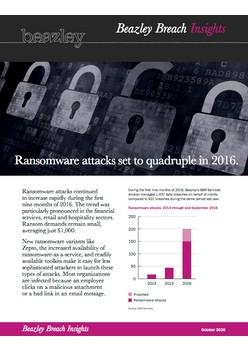Ransomware attacks set to quadruple in 2016