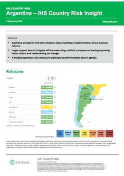 Argentina – IHS Country Risk Insight