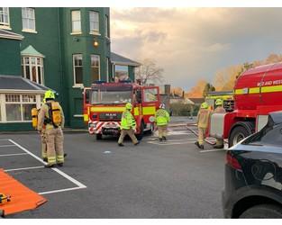 'Serious' basement fire sends smoke billowing through iconic hotel - Shropshire Star