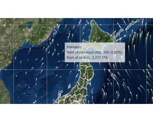Real-time predictions of disaster damage in Japan look to mitigate risk