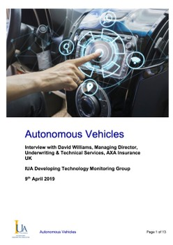 Autonomous Vehicles - IUA Developing Technology Monitoring Group