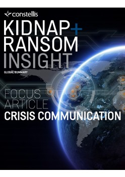 Constellis Kidnap & Ransom Insight - January 2020