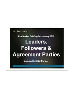 Presentation: Leaders, Followers & Agreement Parties