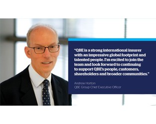 Welcoming Andrew Horton, QBE's new Group Chief Executive Officer.