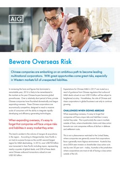 Beware Overseas Risk