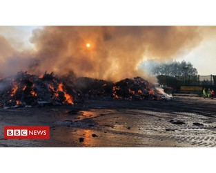 Waterbeach recycling centre fire extinguished - BBC