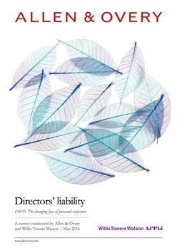 Directors' liability - D&O: The changing face of personal exposure