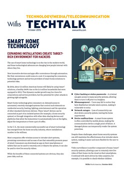 TechTalk: Smart Home Technology: Expanding Installations Create Target-Rich Environment For Hackers