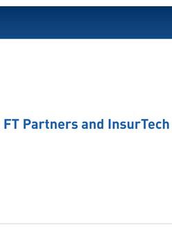 Q3 2018 Insurtech Quarterly Insights - FT Partners