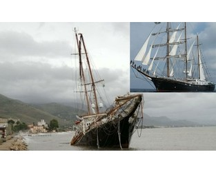 Italian second-biggest tall ship grounded, damaged - FleetMon