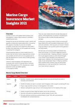 Marine Cargo Insurance Market Insights 2021