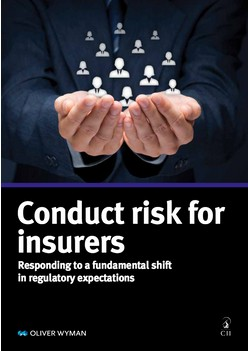Report: Conduct risk for  insurers