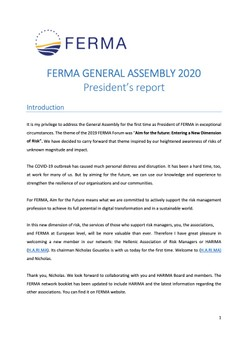 FERMA General Assembly 2020