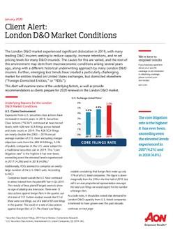Client Alert: London D&O Market Conditions