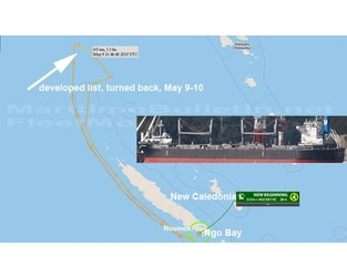 9 crew were evacuated from distressed bulk carrier, New Caledonia - FleetMon