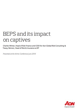 BEPS and its impact on captives