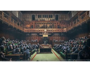Banksy's chimp-filled Parliament up for sale amid Brexit chaos - CNN