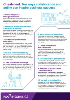 Cheatsheet: Ten ways collaboration and agility can inspire business success