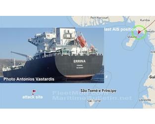Greek tanker off AIS, communication, probably hijacked, Gulf of Guinea - FleetMon