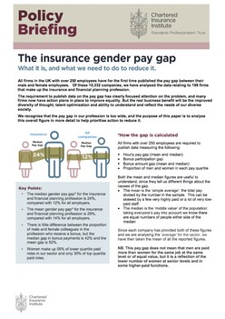 Policy Briefing: The Insurance Gender Pay Gap