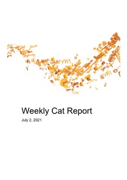 Weekly Cat Report - July 2, 2021