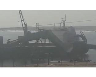 Conveyor belt collapsed onto bulk carrier, Chile - FleetMon
