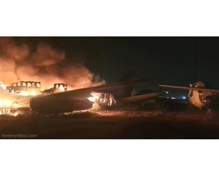 A stored Shaheen Air Boeing 737-200 was completely burnt down at Karachi Airport, Pakistan - News In Flight